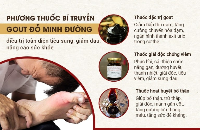 Thành phần và công dụng của bài thuốc Gout Đỗ Minh